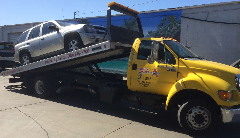 Cash For Cars San Mateo County premium Flatbed Tow Truck
